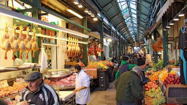 The Modiano Market, Thessaloniki, Greece