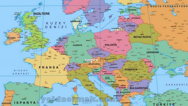 Turkce-Avrupa-Haritasi