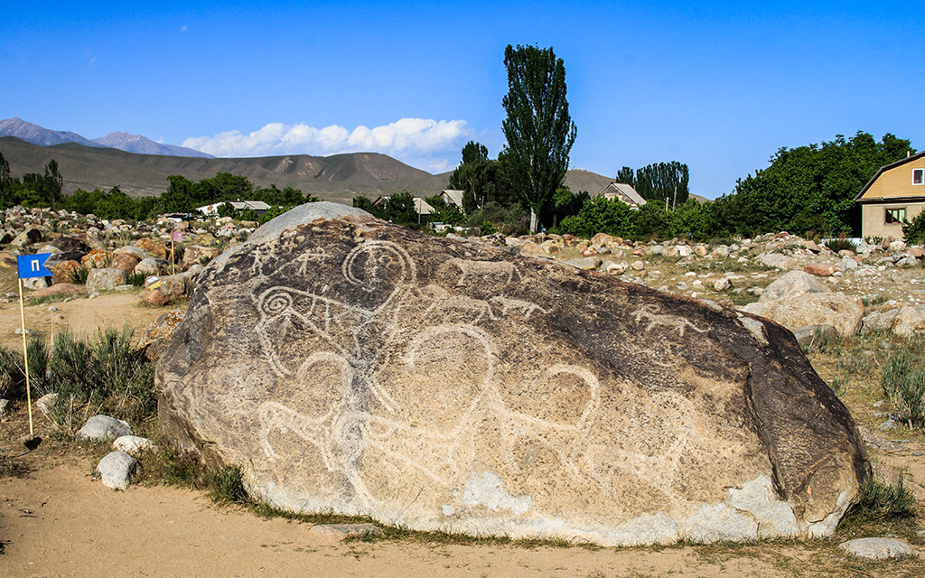 Petroglifler Kirgizistan