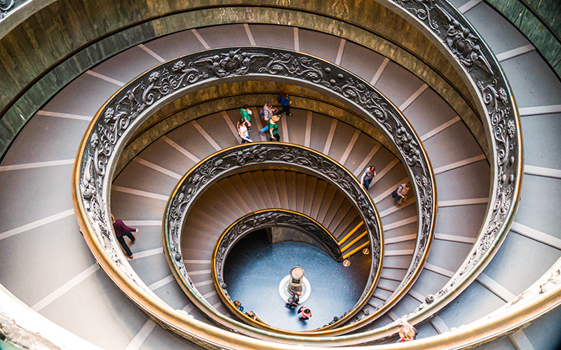 vatikan spiral merdiven