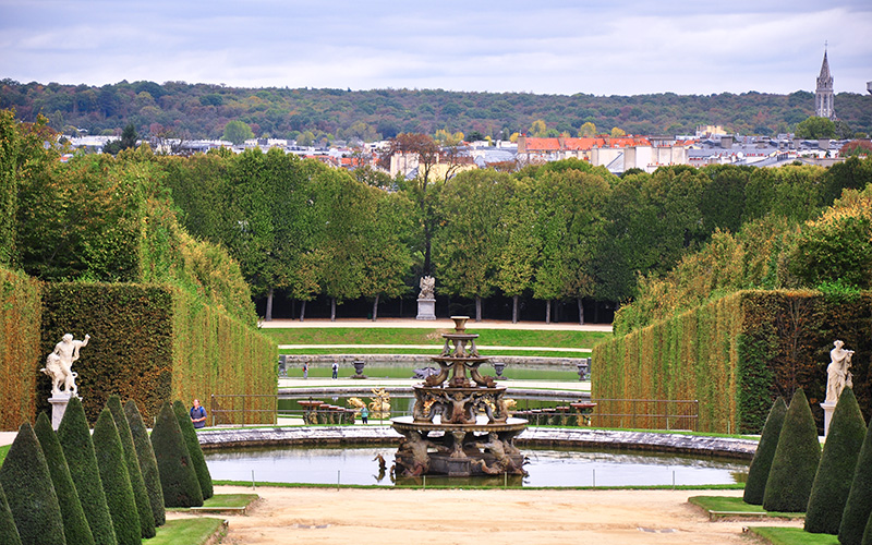 versay sarayı bahçe