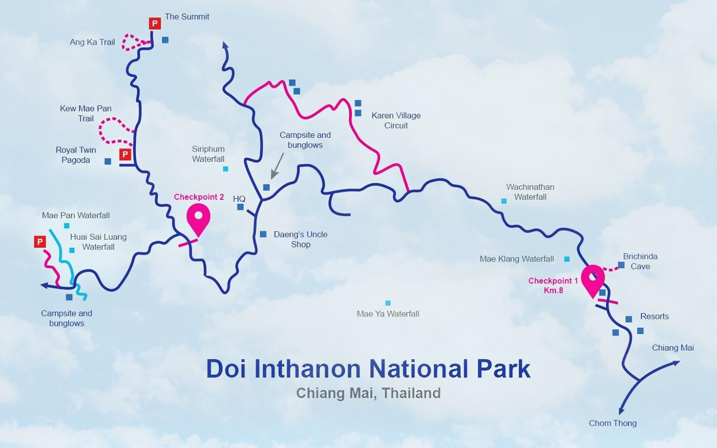 Doi Inthanon Map