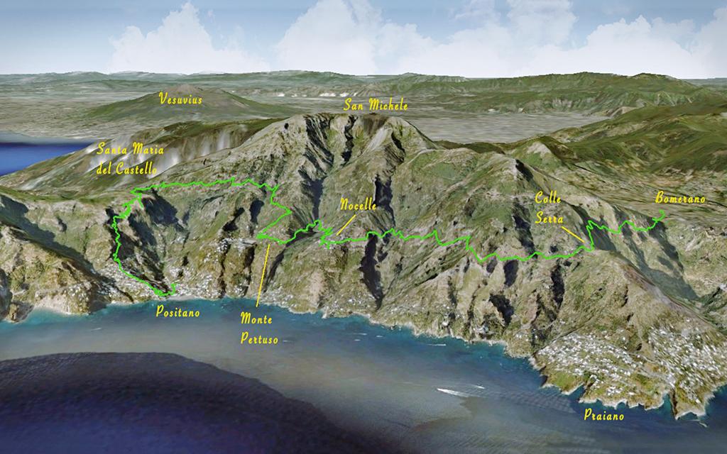 Positano trekking paths